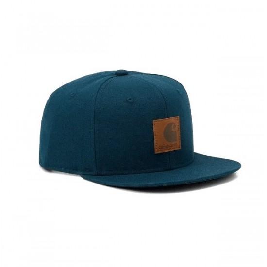 Carhartt WIP - Casquette bleue lagon logo cap