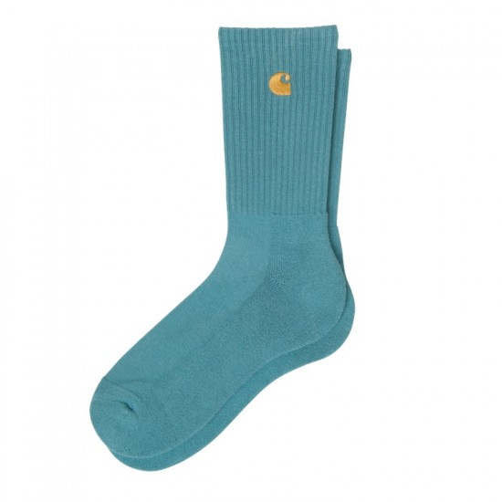 Carhartt WIP - Chaussettes bleues pastel et or