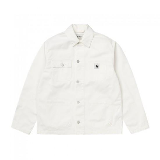 Carhartt WIP - Veste en jean blanche