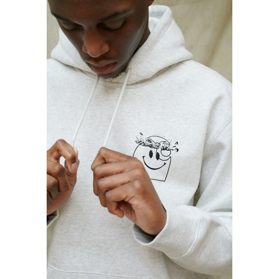 Carhartt WIP - Sweat capuche gris smiley