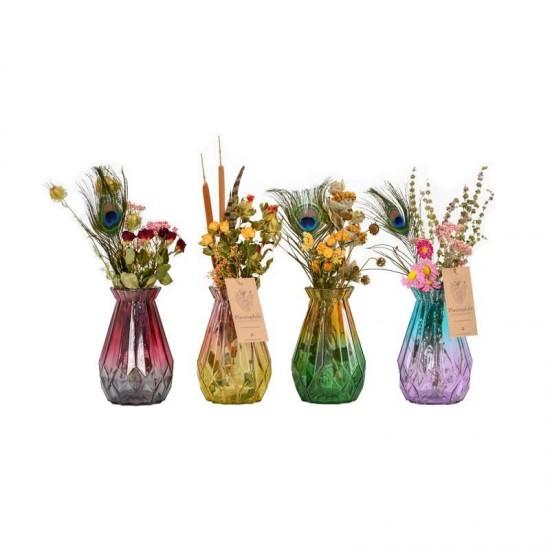 Plantophile - Vase diamant large avec fleurs séchées
