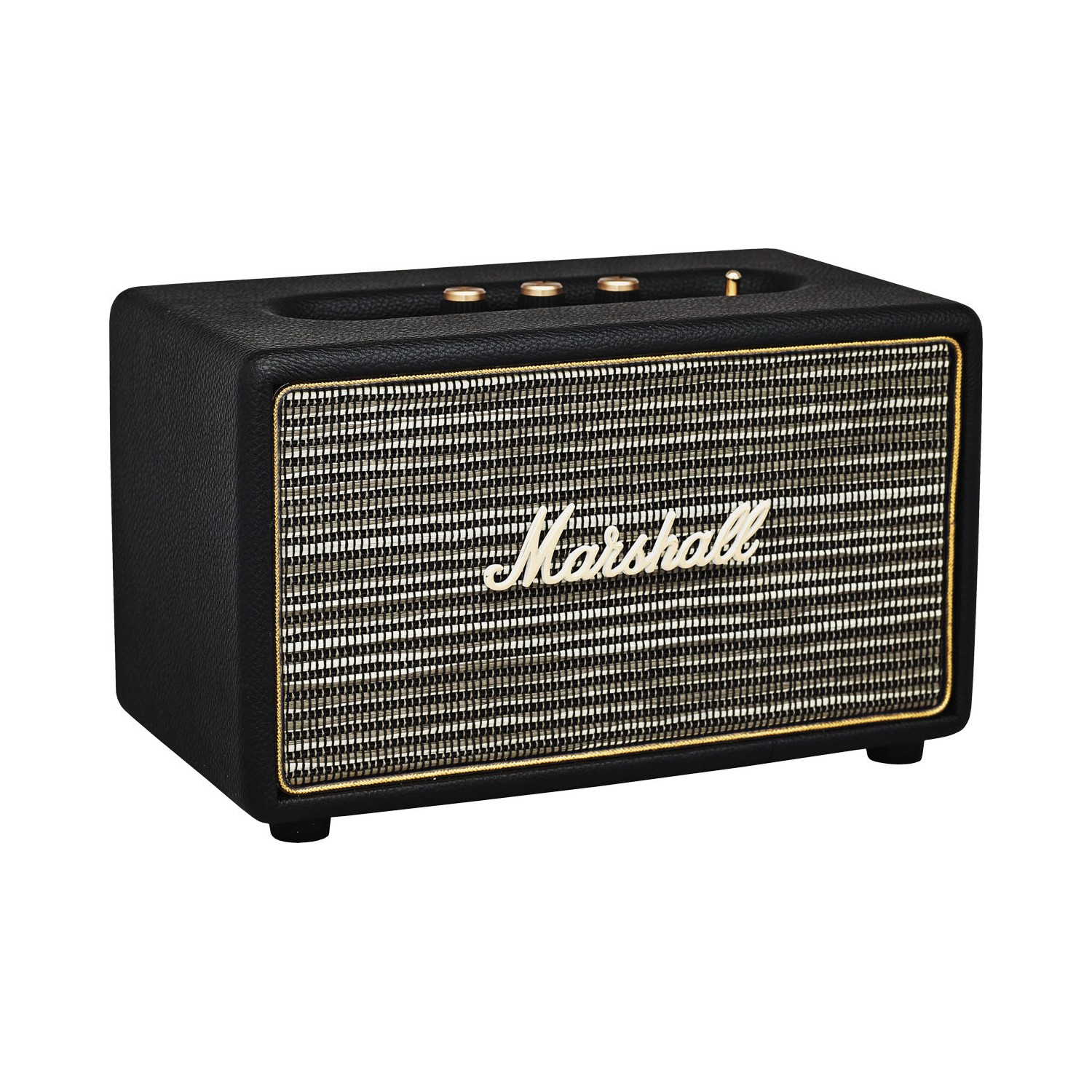 marshall headphones enceinte de salon acton noire haut. Black Bedroom Furniture Sets. Home Design Ideas