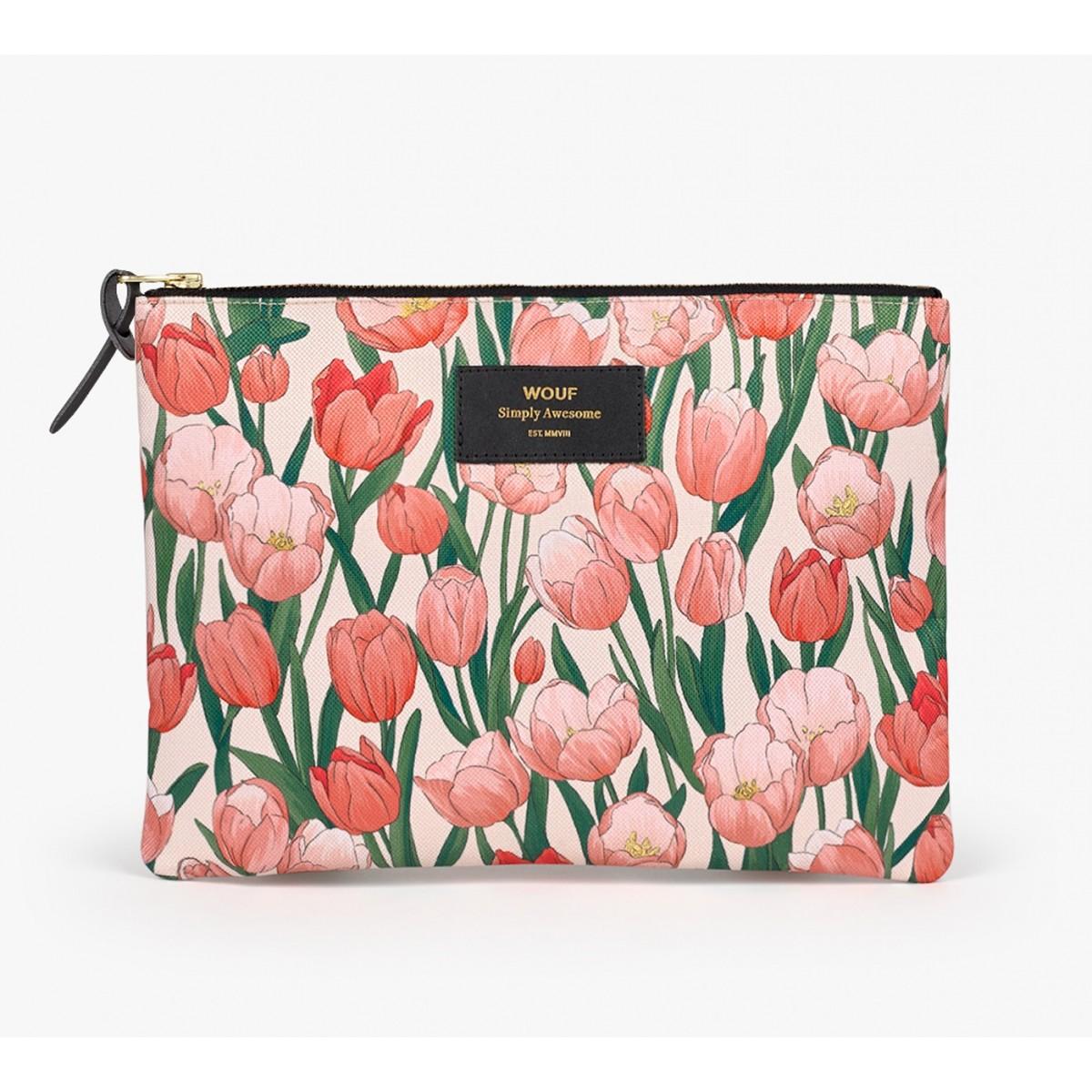 Wouf - Pochette XL motifs tulipes