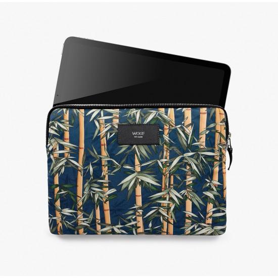 Wouf - Housse imprimé bambous pour tablette et iPad