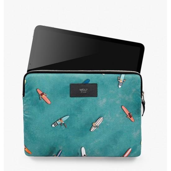 Wouf - Housse imprimé surfeurs pour tablette et iPad