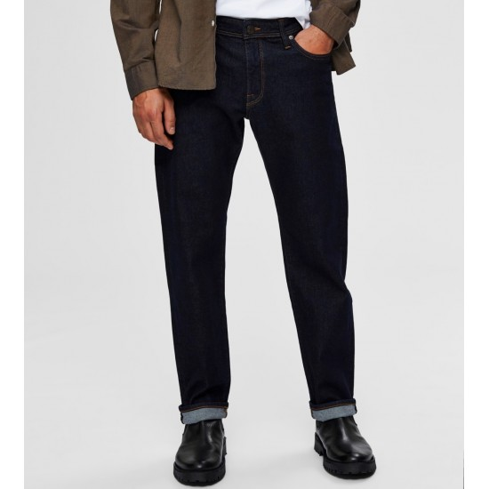 Selected homme - Jeans regular bleu foncé