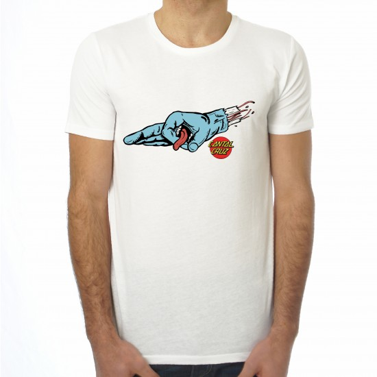 Saucisse Truffade - T-shirt homme Main Cantal Cruz