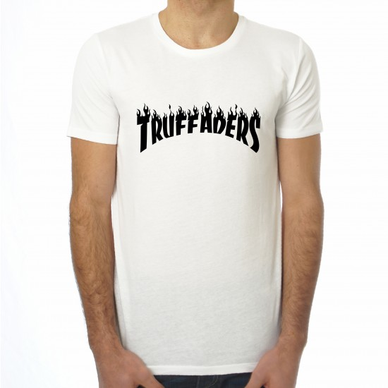 Saucisse Truffade - T-shirt homme Truffaders flammes noires