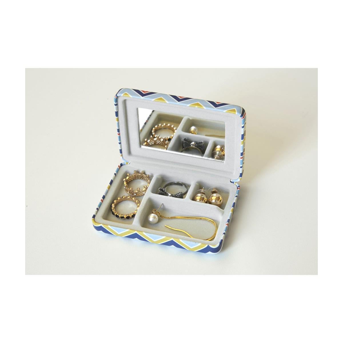 Kikkerland - Boîte à bijoux de poche rayures
