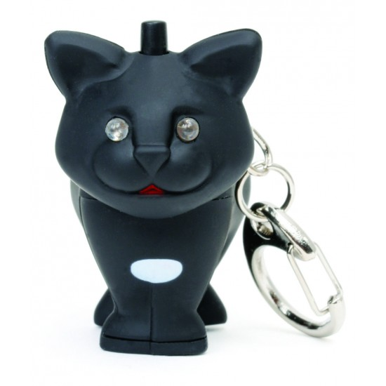 Kikkerland - Porte clés lumineux chat