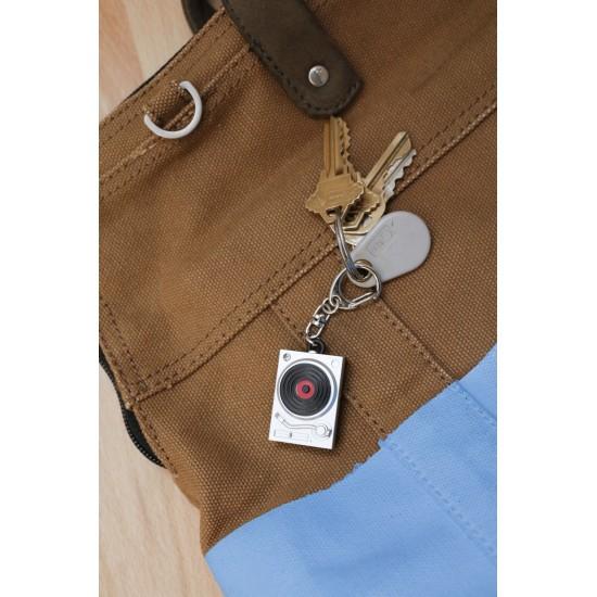 Kikkerland - Porte clés platine vinyle