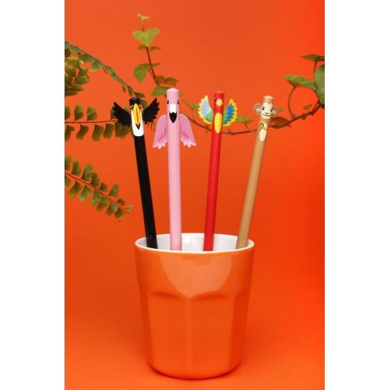 Kikkerland - Set de 4 crayons à papier tropical