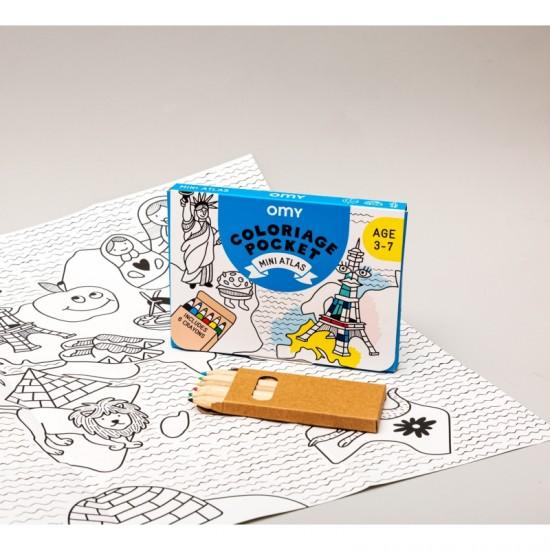 Omy - Coloriage Pocket Mini Atlas