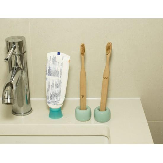 Kikkerland - Duo de brosse à dents bambou