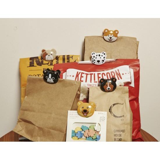 Kikkerland - Pinces chiens pour sacs