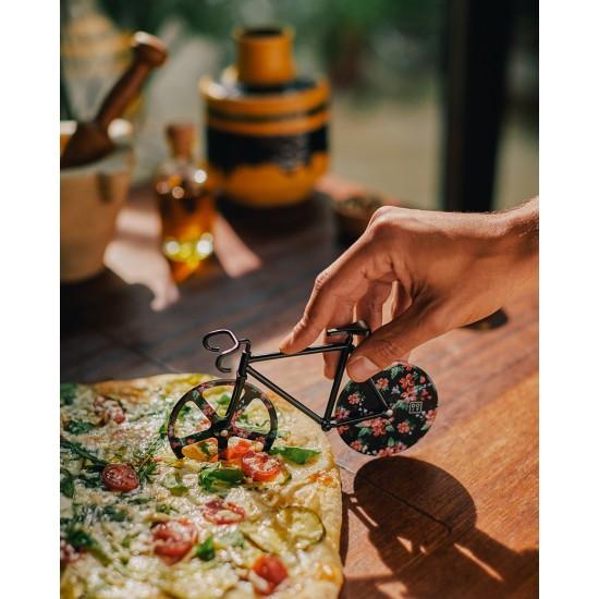 DOIY - Couteau à pizza vélo fixie fleurs