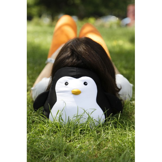 Kikkerland - Coussin de voyage pingouin