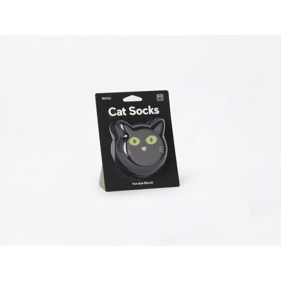 DOIY - Chaussette chat noir