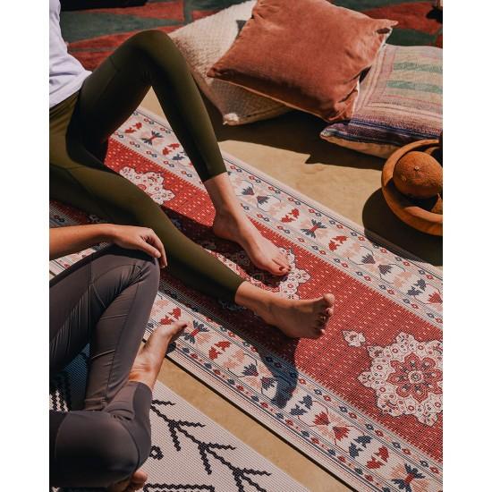 DOIY - Tapis de Yoga à motifs rouge