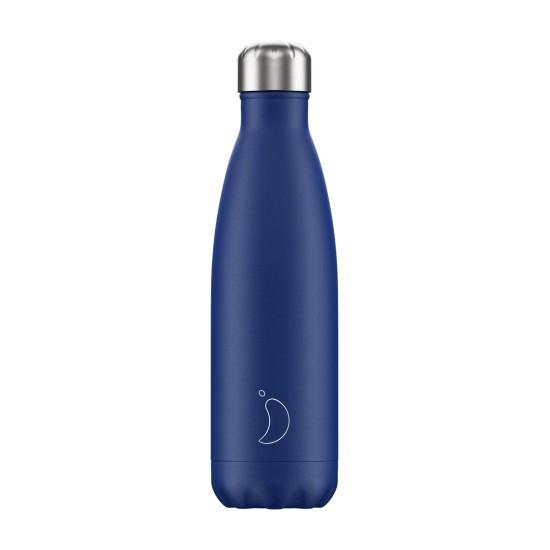 Chilly's Bottles - Bouteille réutilisable bleu mat 500mL