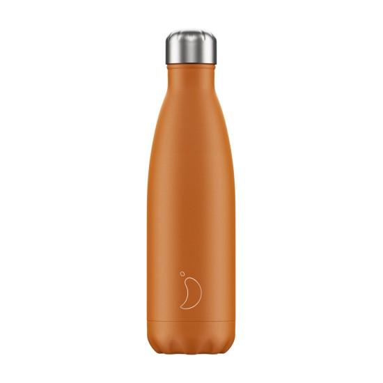 Chilly's Bottles - Bouteille réutilisable orange mat 500mL