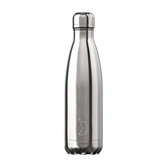 Chilly's Bottles - Bouteille réutilisable gris chrome 500mL