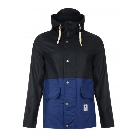 Bellfield - Veste à capuche imperméable noir et bleu
