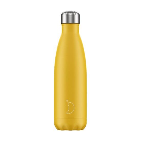 Chilly's Bottles - Bouteille réutilisable jaune mat 500mL