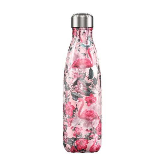 Chilly's Bottles - Bouteille réutilisable flamant rose 500mL