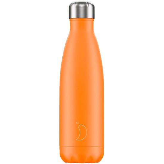 Chilly's Bottles - Bouteille réutilisable orange néon 500mL