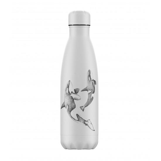 Chilly's Bottles - Bouteille réutilisable orque 500mL