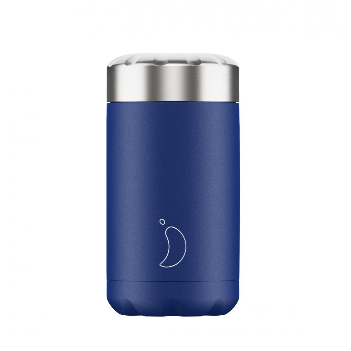 Chilly's Bottles - Boîte à repas réutilisable bleu mat