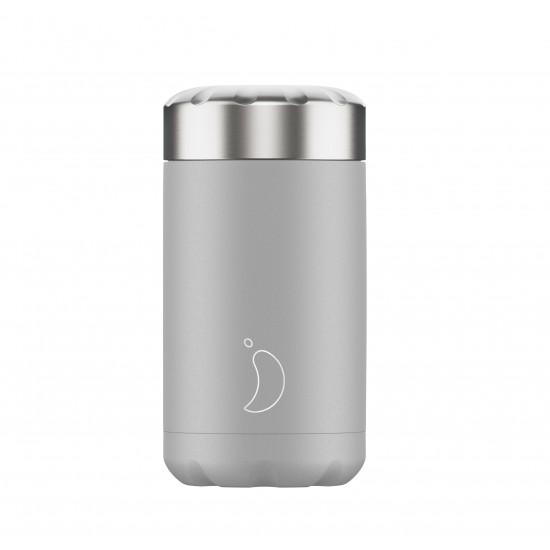 Chilly's Bottles - Boîte à repas réutilisable gris clair