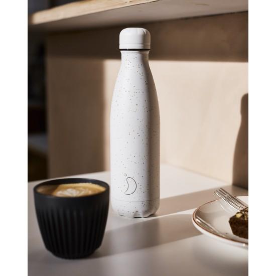 Chilly's Bottles - Bouteille réutilisable blanche mouchetée 500mL
