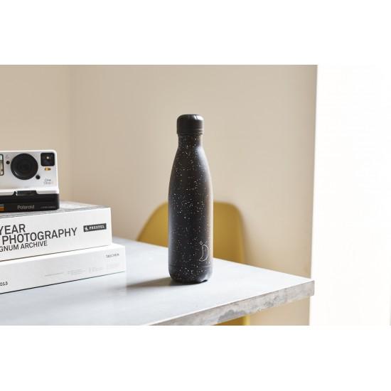 Chilly's Bottles - Bouteille réutilisable noir mouchetée 500mL