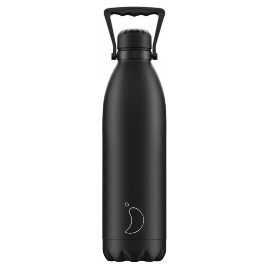 Chilly's Bottles - Bouteille réutilisable noire 1.8L