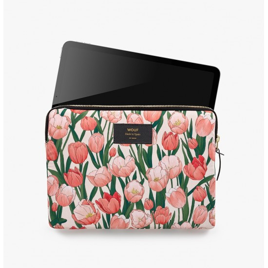 Wouf - Housse imprimé tulipes pour tablette et iPad
