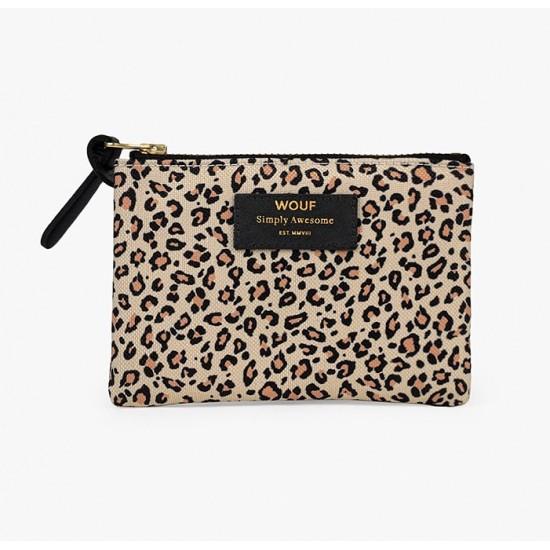 Wouf - Petite pochette imprimée léopard