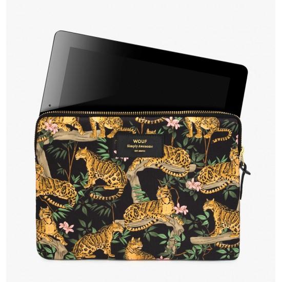 Wouf - Housse imprimé jungle pour tablette et iPad