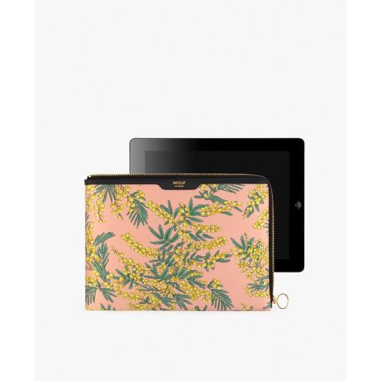 Wouf - Housse imprime mimosa pour tablette et Ipad Sleeve