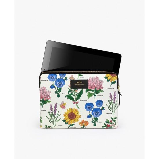 Wouf - Housse imprimé fleurs botaniques pour tablette et iPad