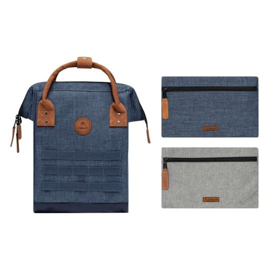 Cabaia - Sac à dos bleu chiné