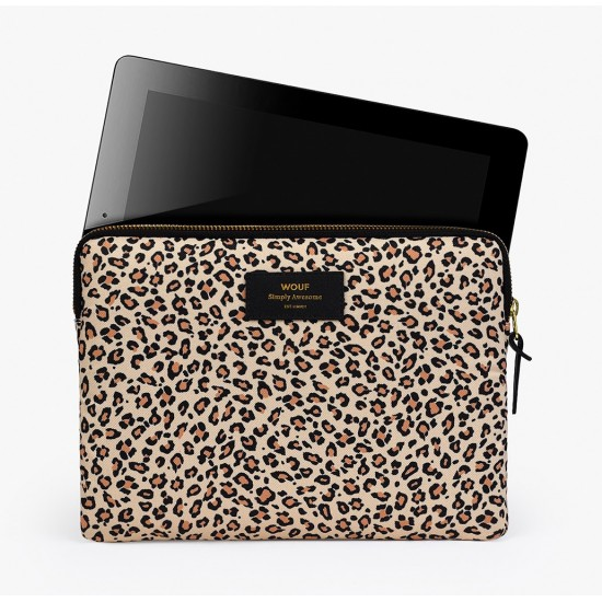 Wouf - Housse imprimé léopard pour tablette et iPad