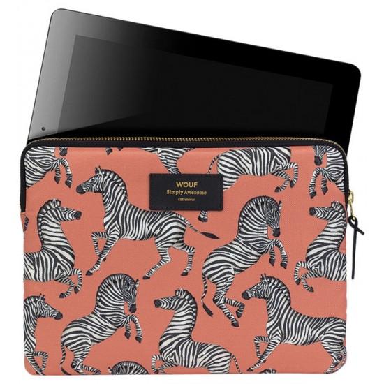 Wouf - Housse imprimée zèbres pour tablette et iPad
