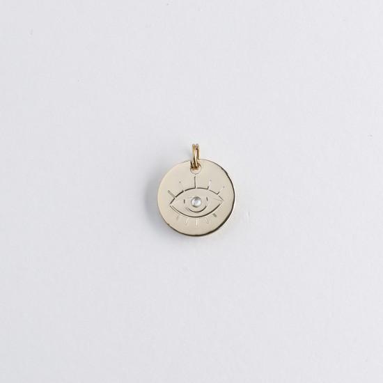 Le Bijou de Mimi - Médaille oeil or