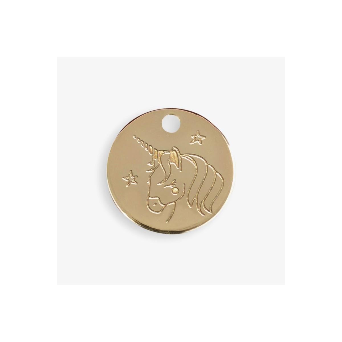 Le Bijou de Mimi - Médaille licorne or