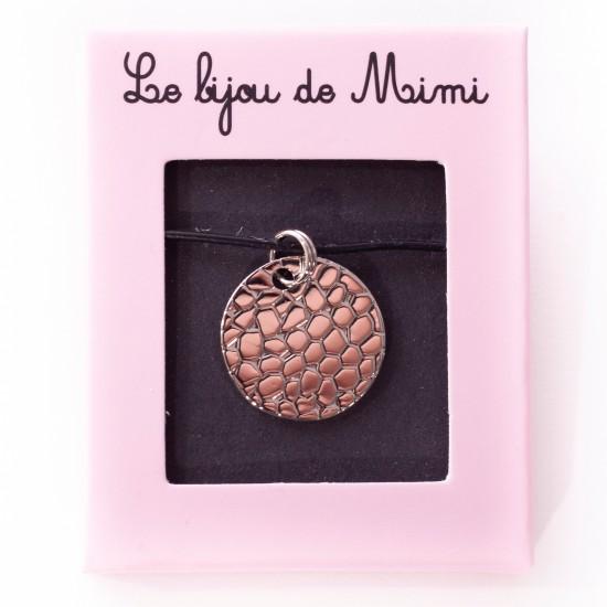 Le Bijou de Mimi - Médaille alvéole argent