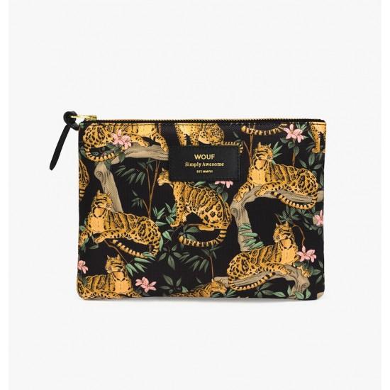 Wouf - Pochette large motifs jungle