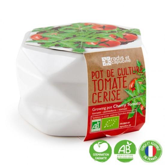 Radis et Capucine - Pot de culture tomate cerise