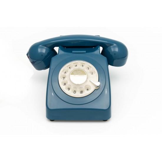 GPO - Téléphone bleu pétrol rétro 746
